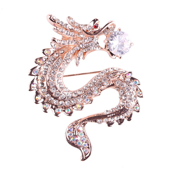 What a Beautiful Dragon Broach.  Choice of Dragon Holding Diamond or Pearl in Jaws.  Beautiful
