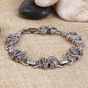 Stainless Steel Dragon Punk Bracelet men or women