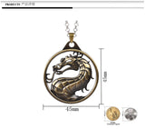 The picture says it all:  You want a cool dragon necklace?  Well this is definitely it.  Grab it up!
