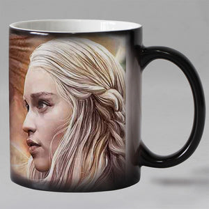 Free shipping Heat Sensitive Coffee mugs Ceramic Color changing Magic tea cups mug suprise gift Dragon mother
