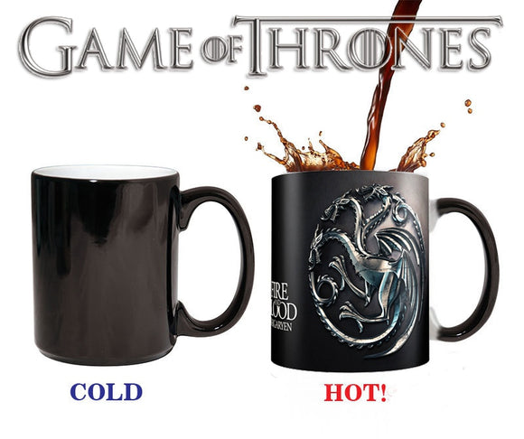 Game Of Thrones Coffee Mug Color Change Cup Dragon Design Tea Milk Cups Trendy Mugs Sensitive Ceramic Drinkware