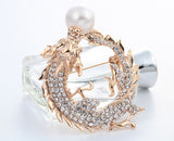 Luxury Chinese Gold-color Brooch with Imitation but Attractive Pearl