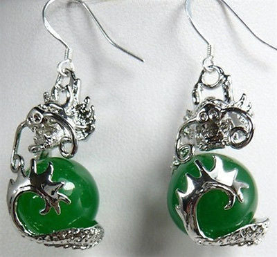 Dragon earrings:  Wow BEAUTIFUL green how Asian (and appropriate) the home of Dragons and Jade! (oh - no they are not actually jade not at this reasonable price - but hey - just as pretty for sure!