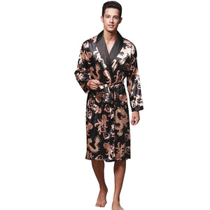 Men's Chinese dragon bathrobe