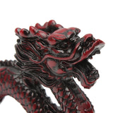 Excellent Resin RED Chinese Feng Shui Dragon Figurine Statue for Luck and Success 6'' Long.  Nice looking. The Wood Has a Very Warm Feel to it.