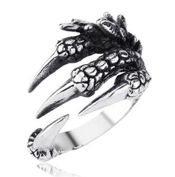 New Punk Rock Biker Dragon Claw Ring For Men