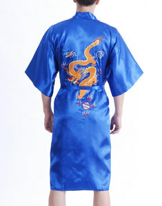 Reversible Men's Dragon Bathrobe,  Dragon Sleepwear S M L XL XXL XXXL