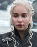 Game of Thrones Daenerys Targaryen Wearing her Dragon Brooch