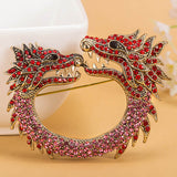 Beautiful Punk Style Jewelry Brooches.  Different Colored Dragon Brooches Inside.