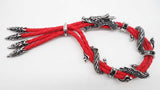 Vintage Red  Black Rope Statement Dragon Bracelet For Man Fashion Cool Bracelet Bangles Wholesale