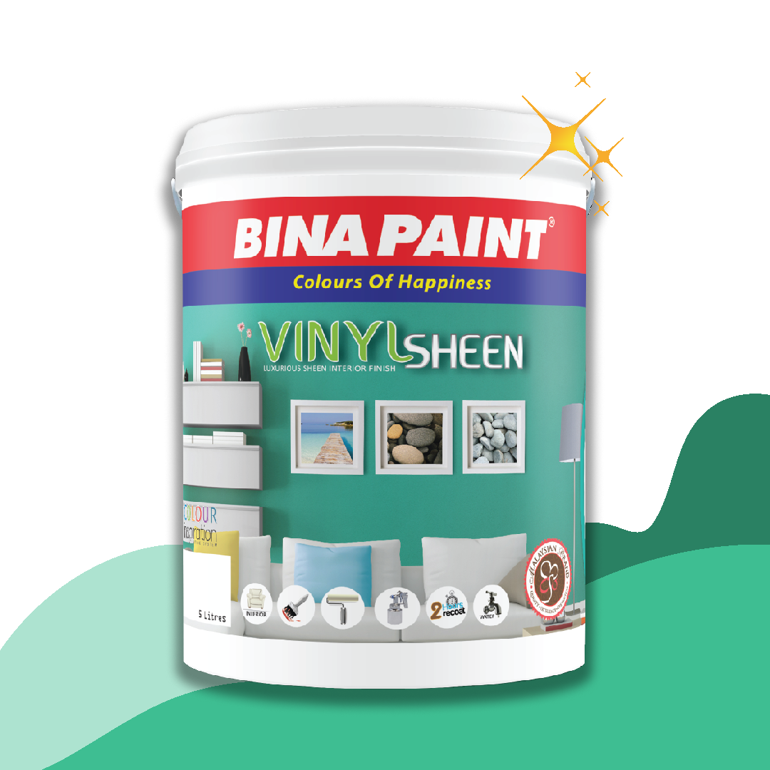 Bina Vinyl Sheen (Easy Clean Interior Semi Gloss Finish)