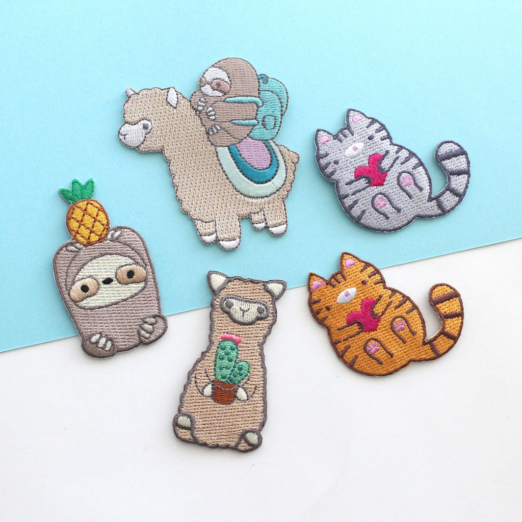 Embroidered Patch Set (5 Patches) by Wild Whimsy Woolies
