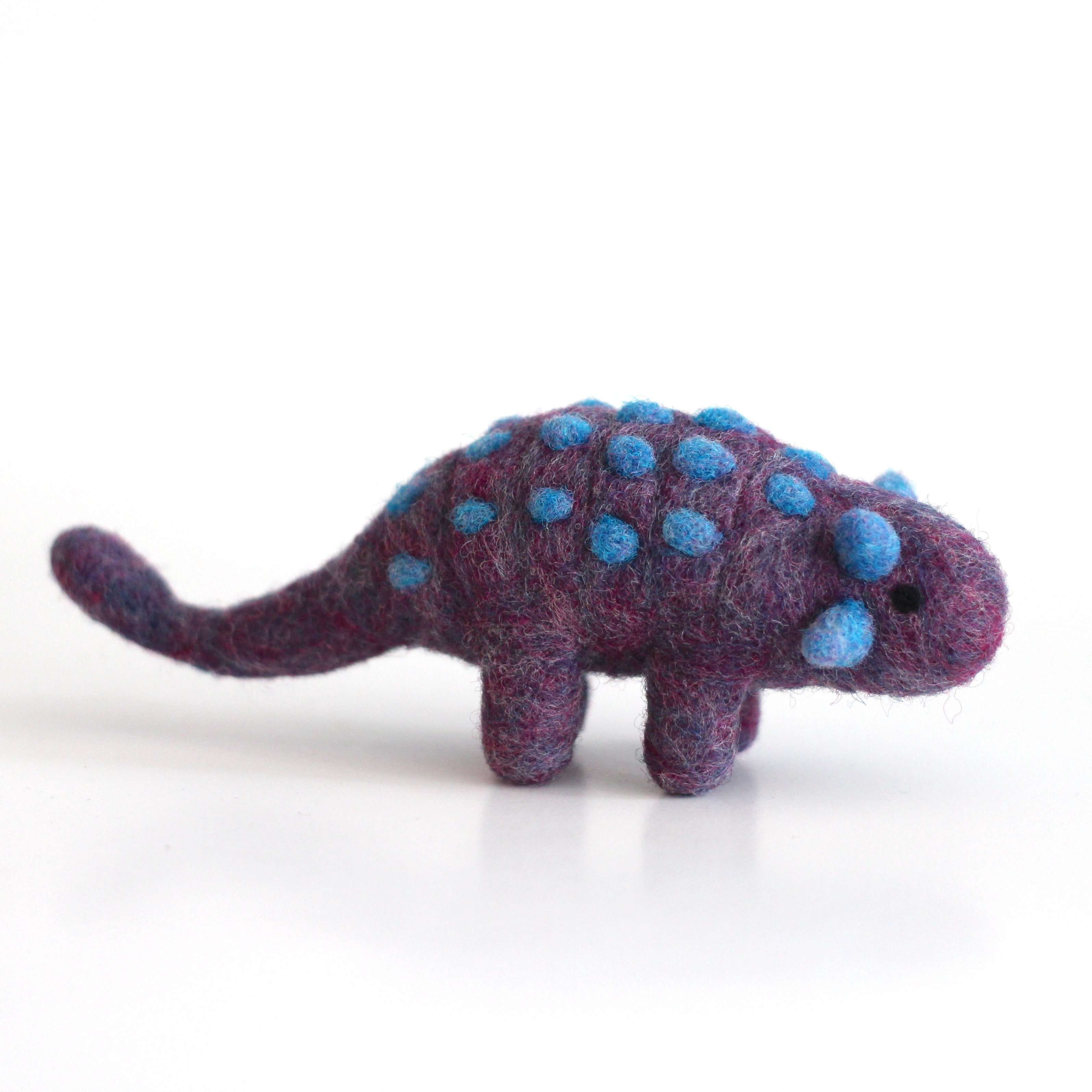 Needle Felted Ankylosaurus by Wild Whimsy Woolies