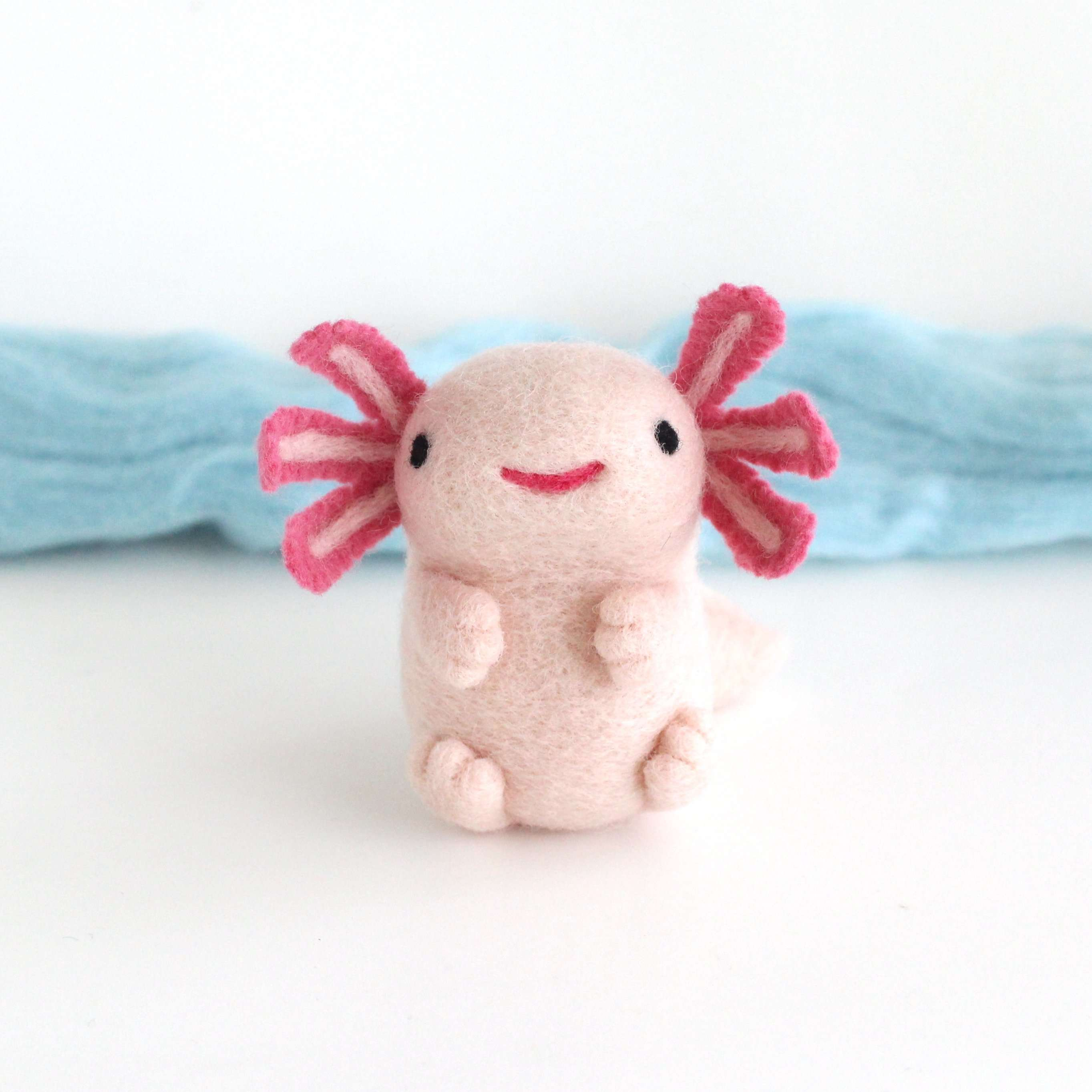 Needle Felted Axolotl by Wild Whimsy Woolies