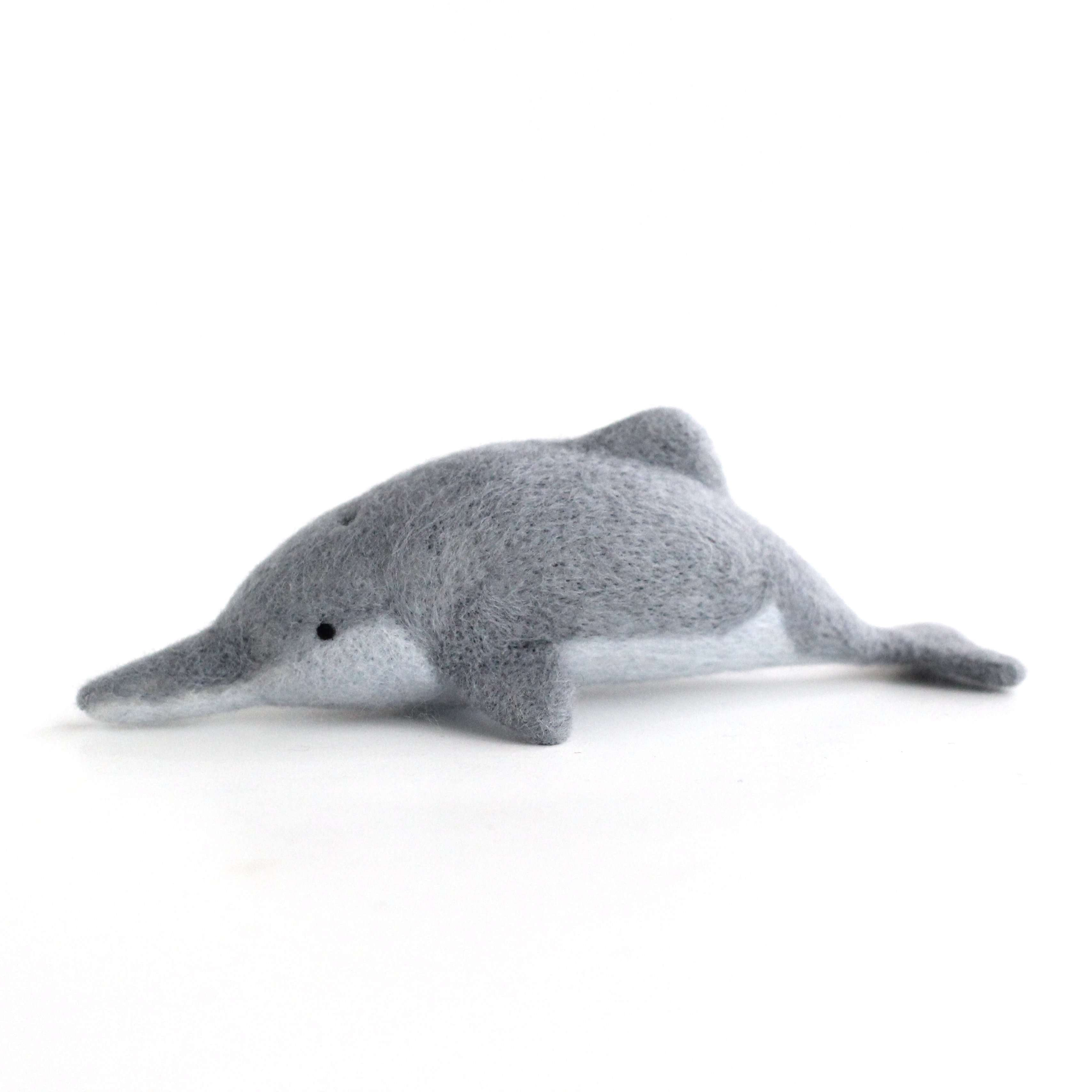 Needle Felted Baiji (Yangtze River Dolphin) by Wild Whimsy Woolies