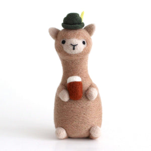 Needle Felted Bavarian Alpaca by Wild Whimsy Woolies