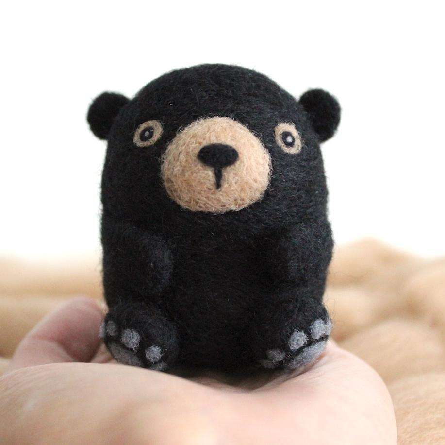 Needle Felted Black Bear by Wild Whimsy Woolies