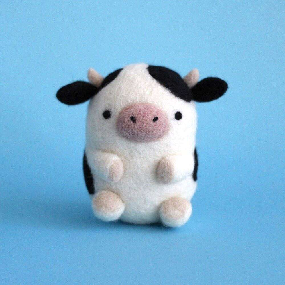 Needle Felted Cow by Wild Whimsy Woolies