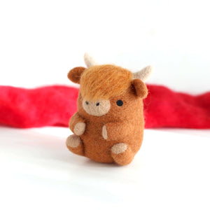 Needle Felted Highland Cow by Wild Whimsy Woolies