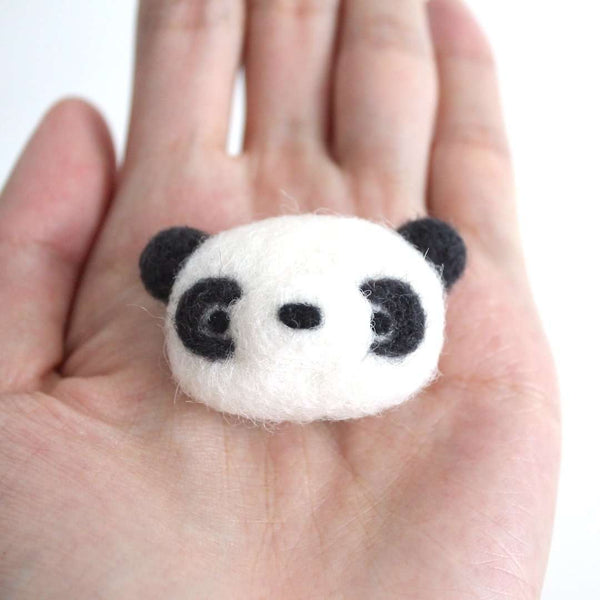Needle Felted Panda Magnet by Wild Whimsy Woolies