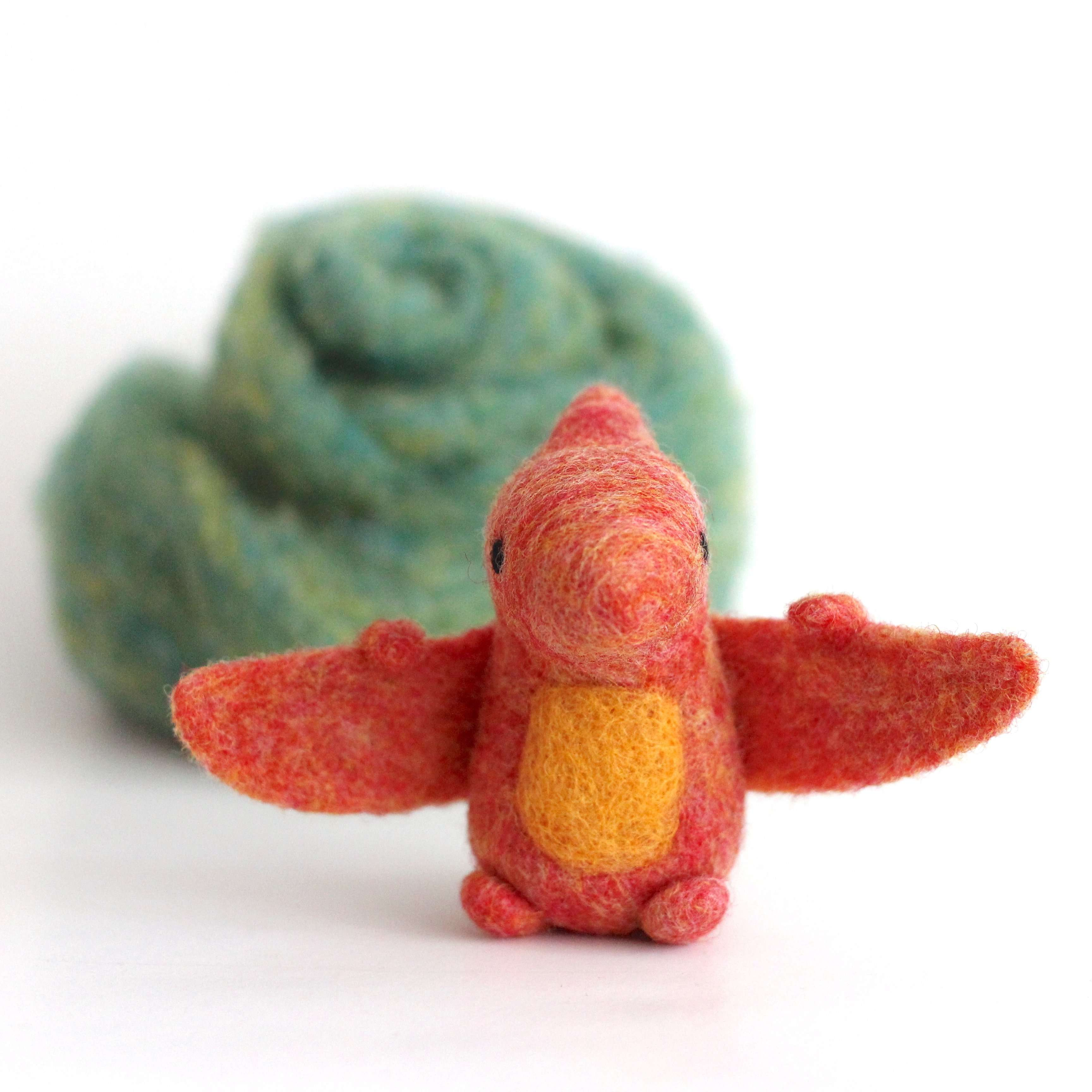 Needle Felted Pterodactyl by Wild Whimsy Woolies
