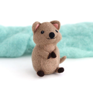 Needle Felted Quokka by Wild Whimsy Woolies