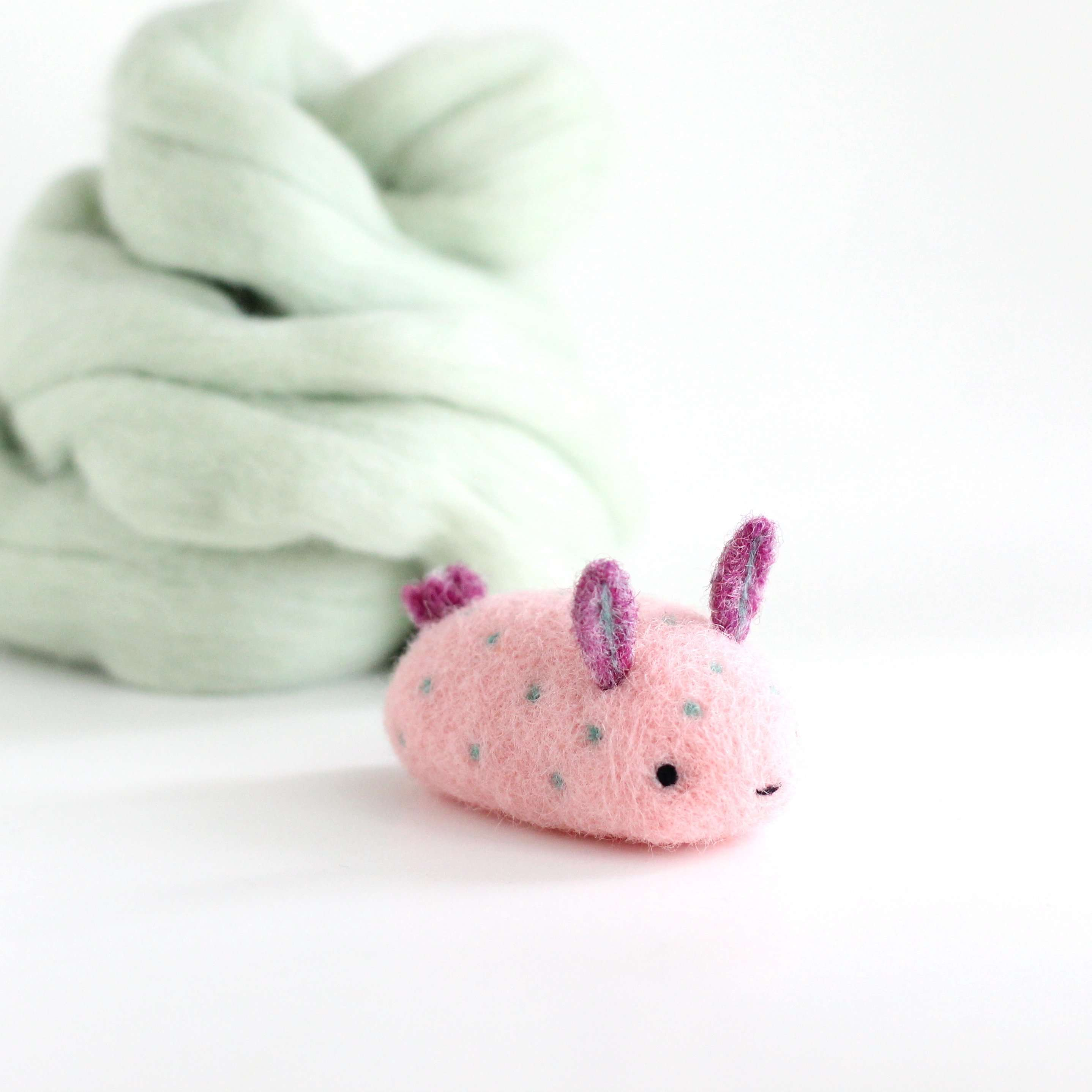 Needle Felted Sea Bunny (Bubblegum) by Wild Whimsy Woolies