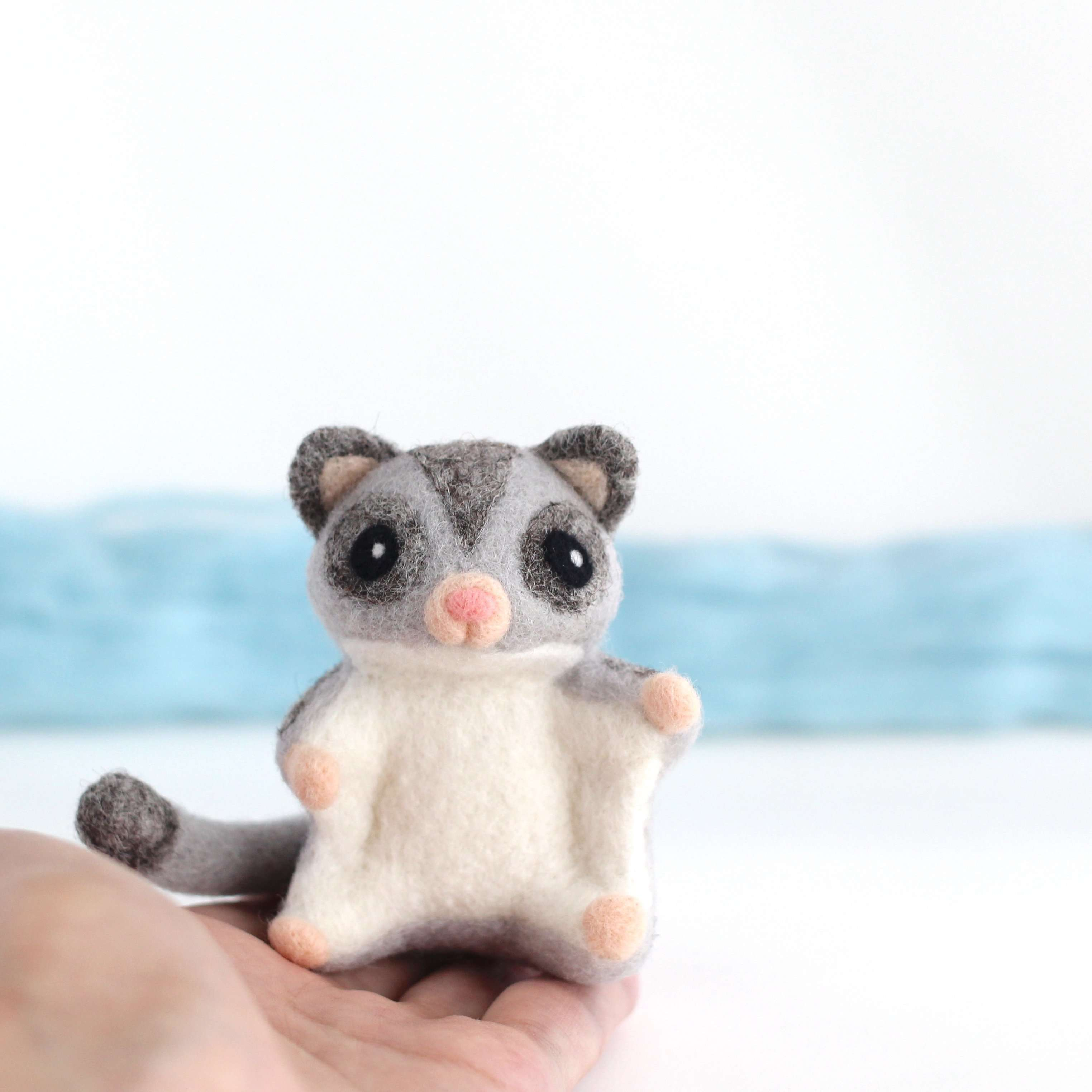 Needle Felted Sugar Glider by Wild Whimsy Woolies