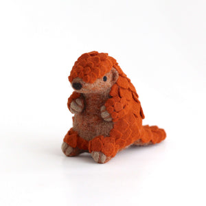 Needle Felted Sunda Pangolin by Wild Whimsy Woolies