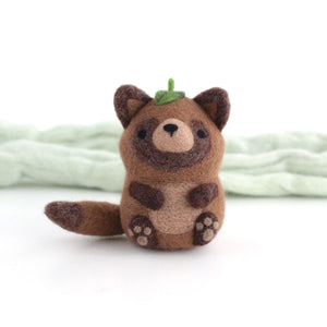 Needle Felted Tanuki by Wild Whimsy Woolies