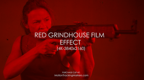 Red Grindhouse Film Effect - 4K
