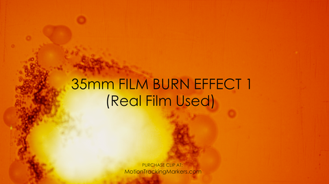 Real 35mm Film Burn Effect  - 4K