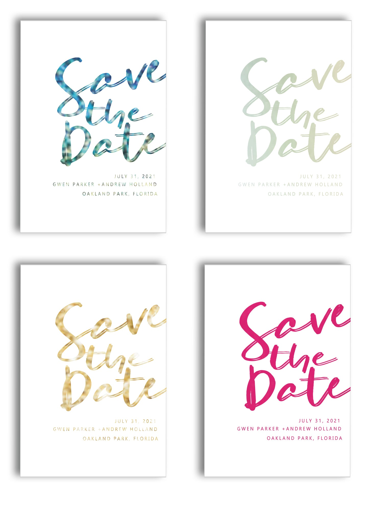 FOIL PRINTING SAVE THE DATES