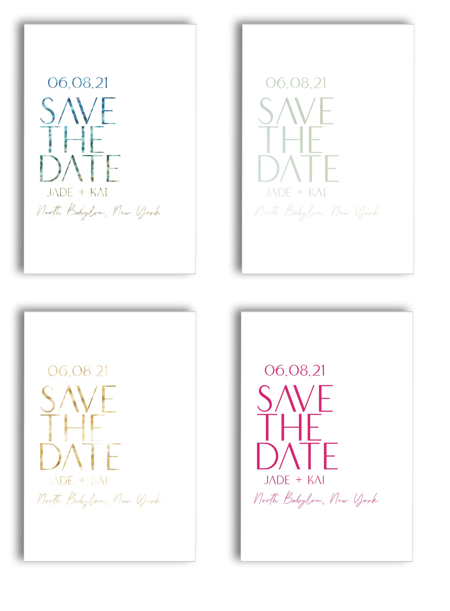 FOIL SAVE THE DATES FOR WEDDINGS