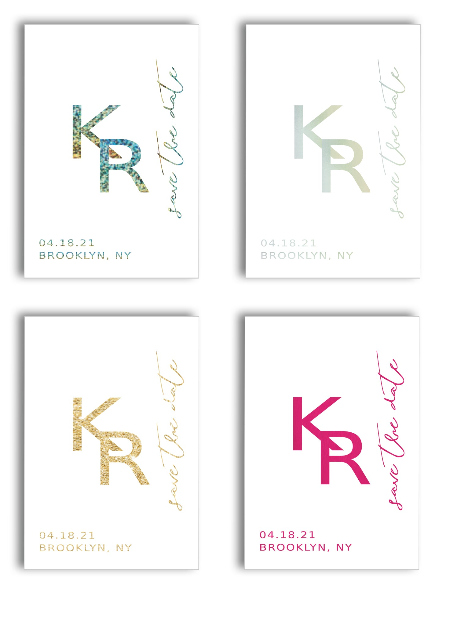 FOIL PRESSED SAVE THE DATES
