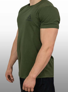 """Athleisure"" Tee- Moss Green"