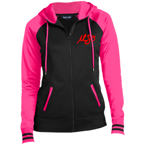 "Ladies' ""Red MS3"" Sport-Wick® Full-Zip Hoodie"