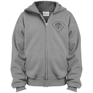 """Heart Diamond"" Youth Zip Hoodie"