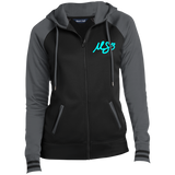 "Ladies' ""Cyan MS3"" Sport-Wick® Full-Zip Hoodie"