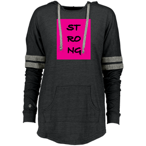 """Strong"" Ladies Hooded Pullover"