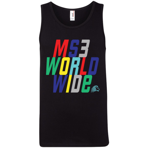 Men's Multi-Color Ringspun Tank