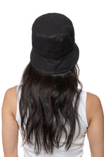 Black Linen Bucket Hat Back 2