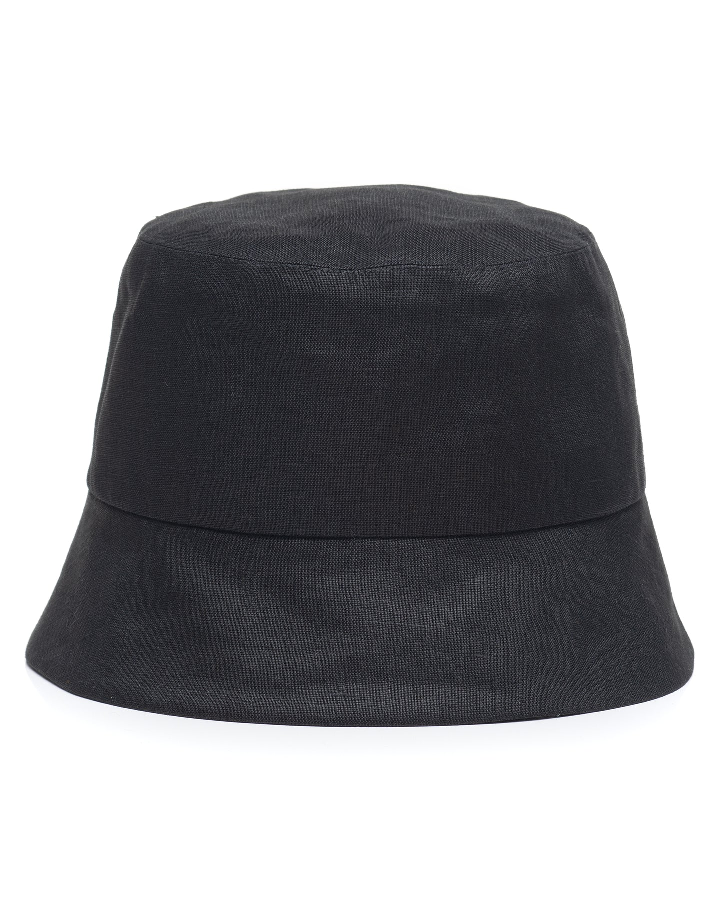 Black Linen Bucket Hat