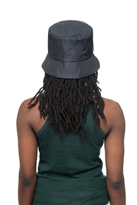 Black Nylon Bucket Hat Back 2