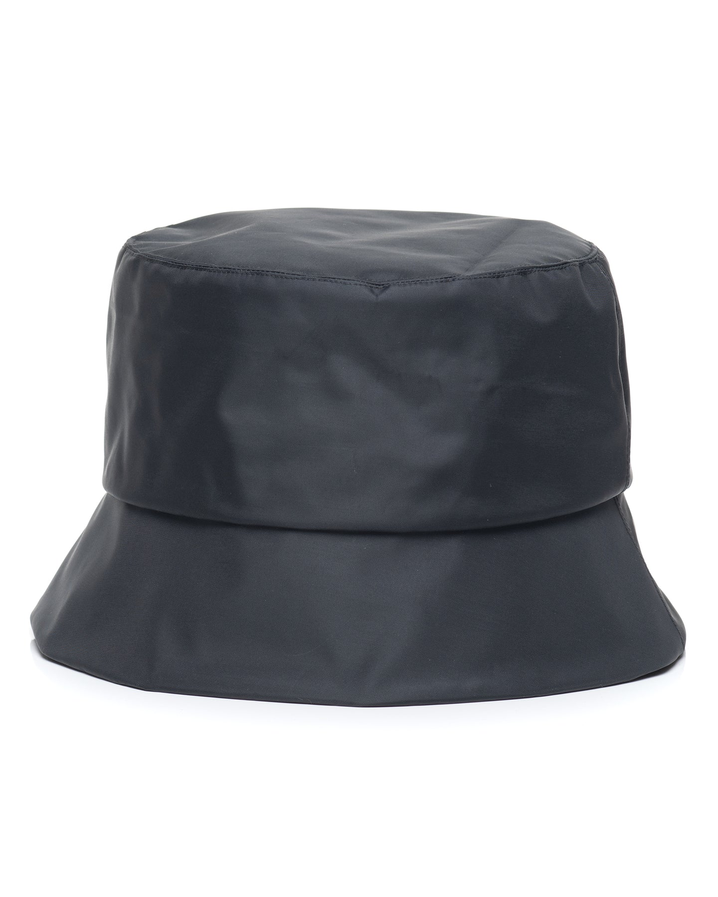 Black Nylon Bucket Hat Front