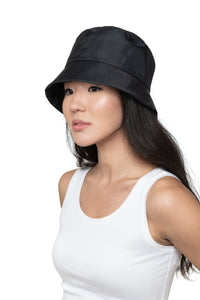 Black Nylon Bucket Hat Front 1