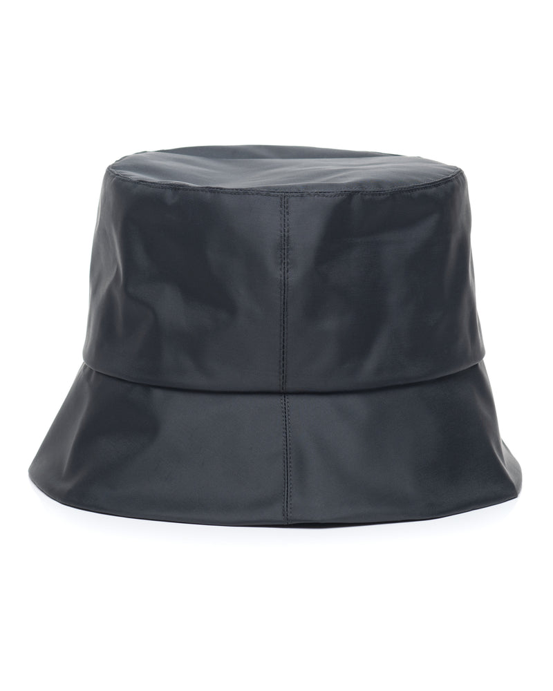 Black Nylon Bucket Hat Side