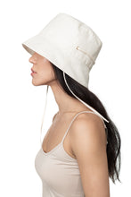 White Linen Bucket Hat Side 1
