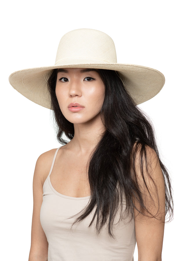 Cream Panama Straw Hat Front 1