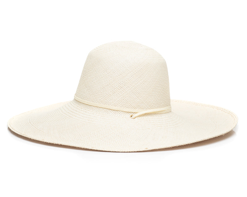 Cream Panama Straw Hat Side